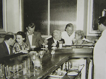 Hemingway at the Floridita bar - Havana, Cuba