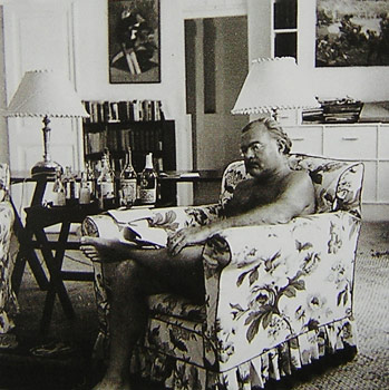 Hemingway Reading In The Living Room Of Finca Vigía